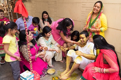 Traditional Indian Haldi ceremony