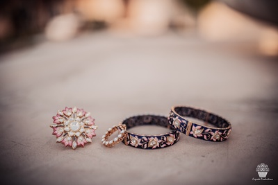 Ring, Nosering and Bangles for the bride for the wedding
