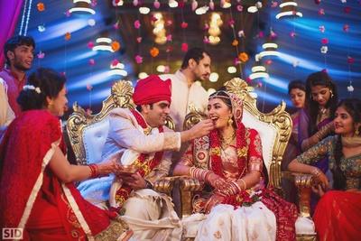 Wedding ceremony held at Palace Grounds, Bangalore.