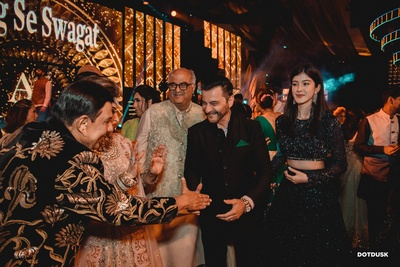 The couple's family welcoming the Kapoors in-style!