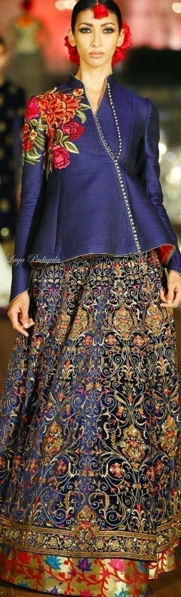 Gorgeously embroidered bridal wedding lehenga by Rohit Bal
