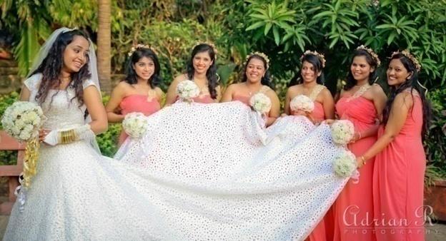 Silver Textured White Wedding Gown