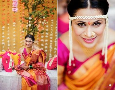 The bride before her haldi ceremony