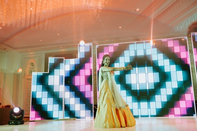 Bride sangeet performance