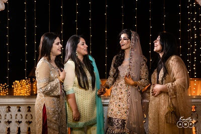 The bride's wedding day is incomplete without her bridesmaids!