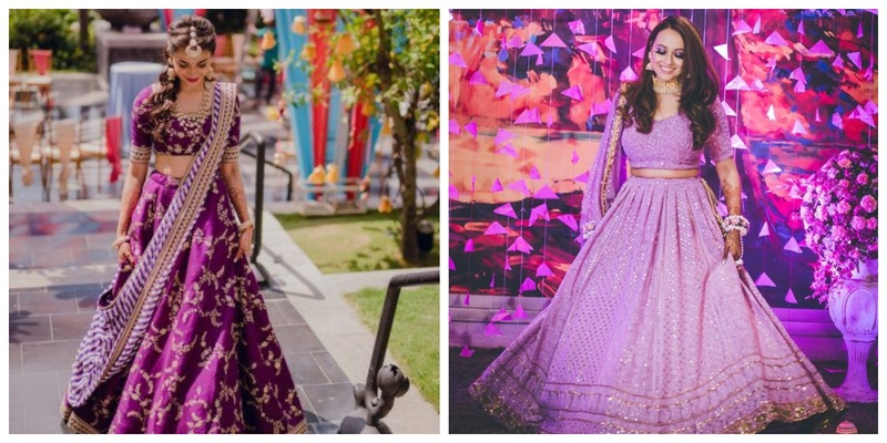 Purple is the new offbeat lehenga colour trending this season!