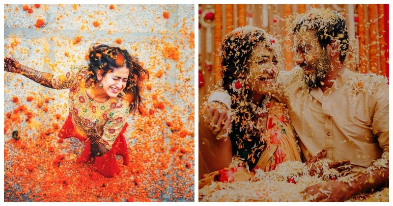 Phoolon ki holi- A trend in recent weddings that we are going crazy over!