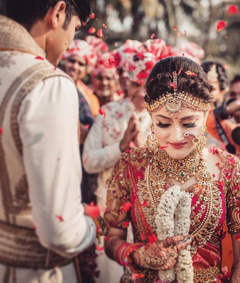 cf12c4e6b Their wedding was a mix of both Punjabi and South-Indian traditions and  needless to say, it was phenomenal. Check out the beautiful wedding  pictures clicked ...