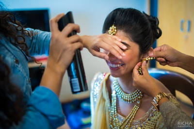 Finally a decked bride with minimal jewellery
