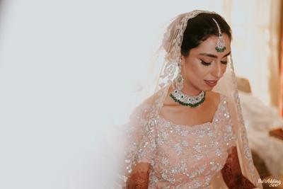 sikh bride portrait