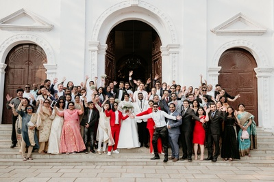A whole lot of family and friends attend the BIG FAT church wedding! :)