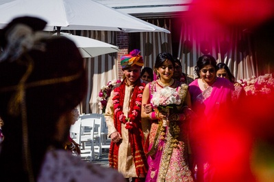 bridal entry to the wedding ceremony
