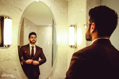 Aftab getting ready for his reception