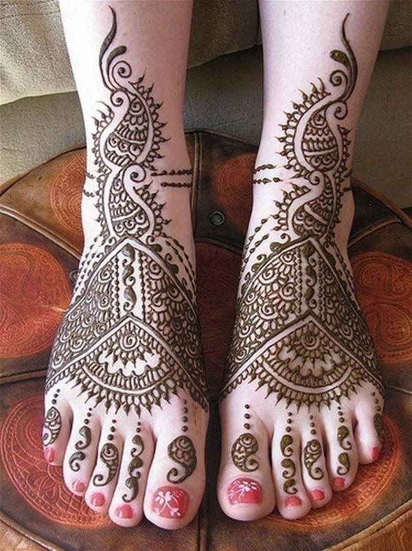 Arabic Bridal Mehndi Designs Legs