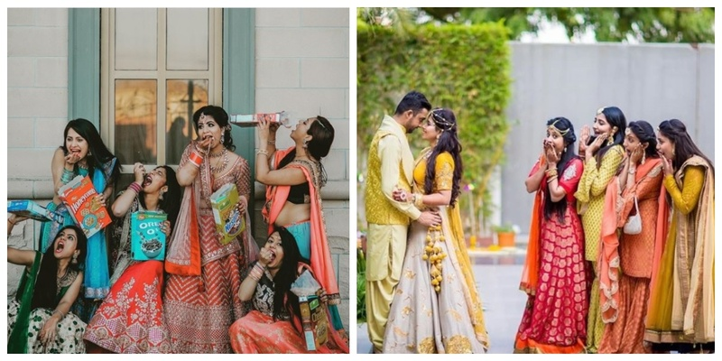 15 super-cute & quirky photo ideas for the bride and her bridesmaids! #squadgoals