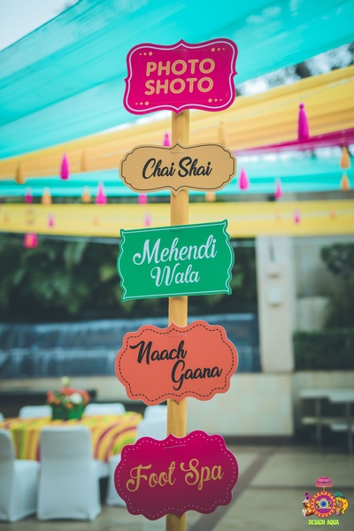 cool signage ideas for mehendi ceremoony