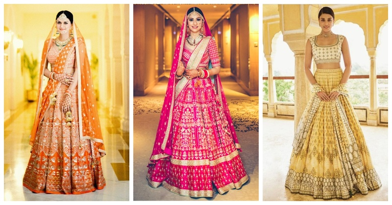 These lehenga designs from Anita Dongre will give you some major lehenga inspo for all your wedding events!