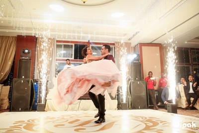 The couple owned the stage with their bride and groom dance performance