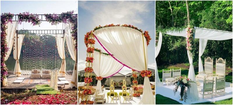 5 Outdoor Mandap Decor Ideas For A Minimalist Wedding