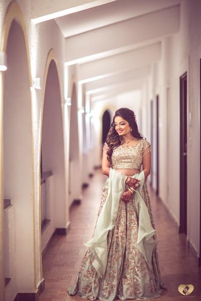 Priyanka looking stunning in a mint green lehenga.