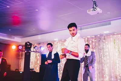 The groom sets the mood and adds the filmy touch and swag to the dance floor!