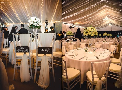 Wedding reception dining decor ideas!