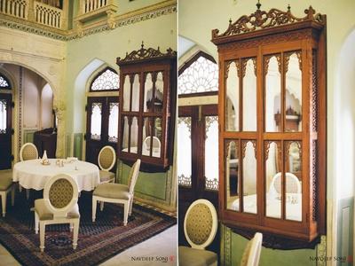 Royal british interiors at the opulent Chomu Palace