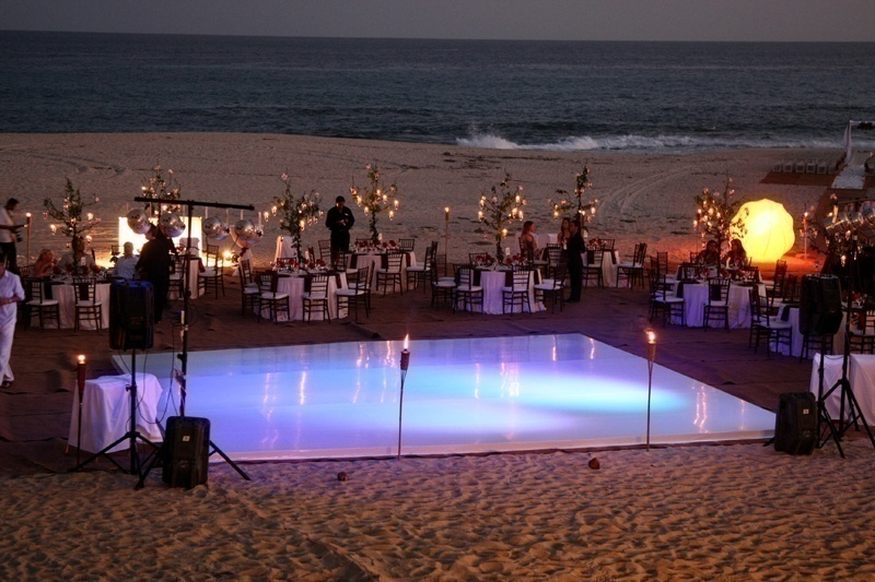 Dance floor ideas to make your cocktail reception or for Outdoor dance floor ideas