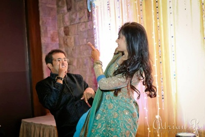 Sangeet performance by the couple