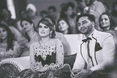 The beautiful couple's candid shot