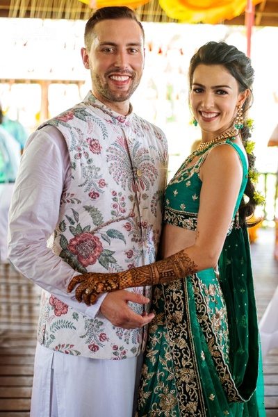 Nicolas and Prianka at their Mehendi ceremony.