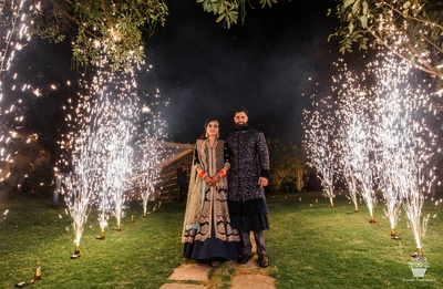 Post wedding photoshoot of the Bride and Groom at their reception party