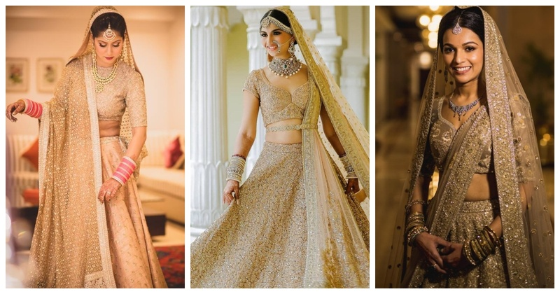 12 Brides who totally dazzled us with their golden bridal lehengas!