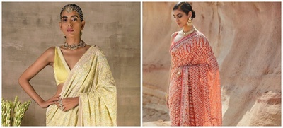 10 Chikankari Must-have Sarees for your Bridal Trousseau