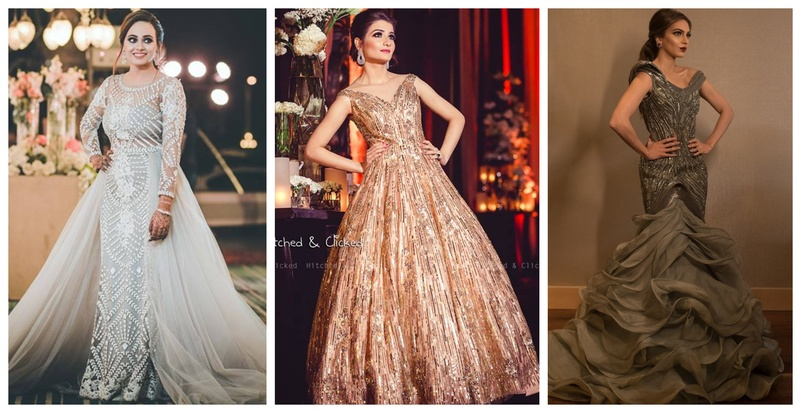 20 Gorgeous Cocktail dresses and Reception gowns we spotted on Indian brides!