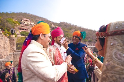 Saving the groom's naak,from the unavoidable naak khichai ceremony