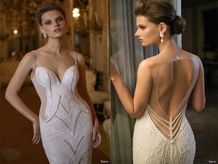 Geometric Pattern Wedding Dress