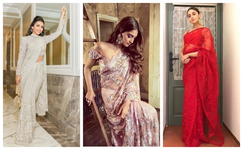 7 Net Sarees to Own this Wedding Season