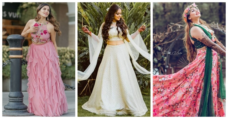 10+ Offbeat lehengas to consider for your mehendi ceremony!
