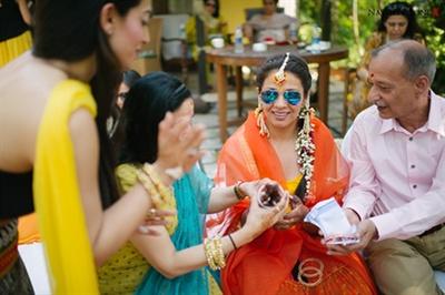 The bride's chuda ceremony