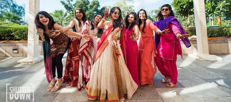 Manhar & Nivritti Chandigarh : This bride's unique and creative lehengas for her Hyatt Regency, Chandigarh wedding gave us #goals!
