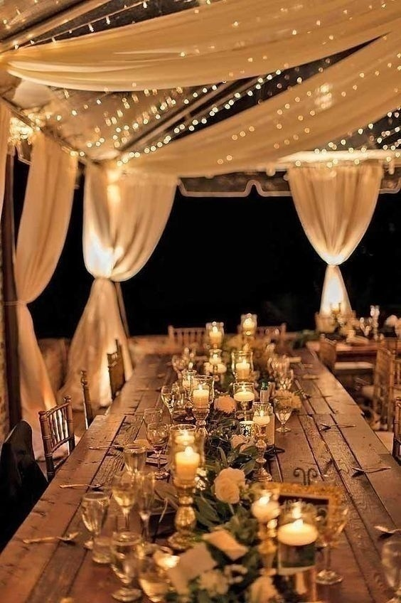 Create a dreamlike setting with these candle wedding decoration table settings junglespirit Gallery