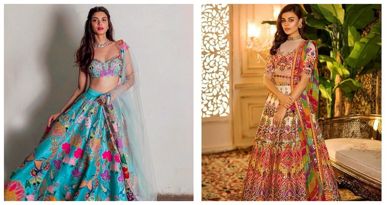 Pop of Colour: 5 Colourful Lehengas for Brides and Bridesmaids