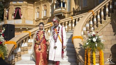 The wedding garland made with Jasmine, Roses, Tuberoses