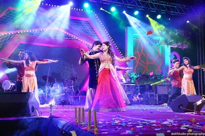 Bridal outfit ideas for Sangeet ceremony