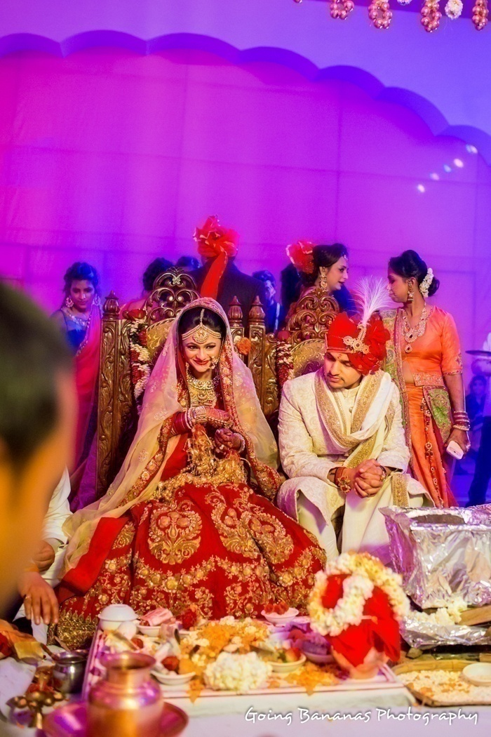 Gorgeously Flared Red Lehenga with Gold Motifs