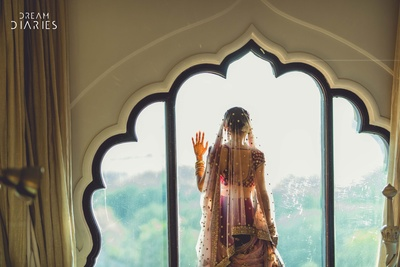 Bridal photography with creative angles