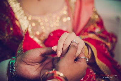Wedding ring photography by Romesh Dhamija Productions.