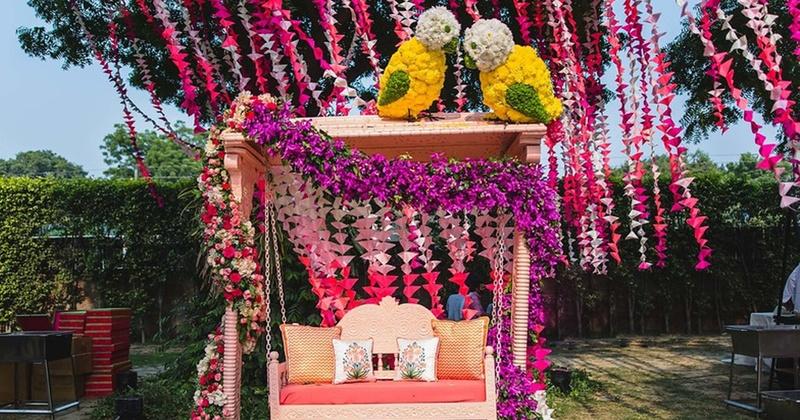 The most pretty jhoola decor ideas for your mehndi ceremony