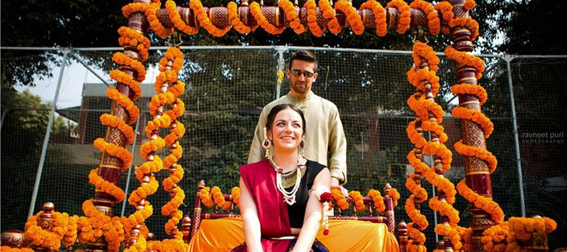 Paul & Alison Delhi : Alison and Paul's cross-cultural wedding stunned us all with all the beautiful wedding moments.